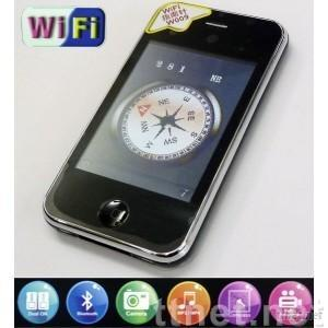 4 band Wi-Fi phone, GSM+GSM,Touch screen, Java, Compass, MP3/4