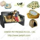 Beige canvas dog house with crown DFGC-030GW