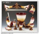 Polyresin batthroom series,sanitary crafts sets,lady mirror sets