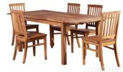 Karlson solid oak dining set with two leaves