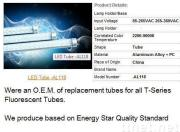 LED Fluorescent Replacement Tube