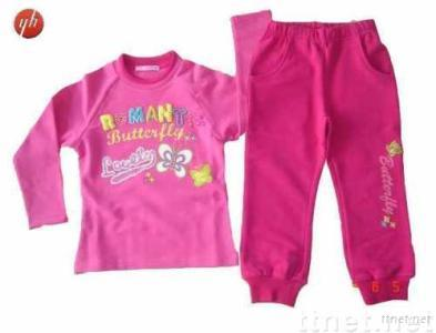 Girl's Long Sleeve And Pants Suit