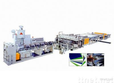 PC、PE、PP Hollow Grid Plate Extrusion Line