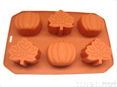 silicone leaf and pumpkin muffin pan, silicone cake mold, silicone bakeware