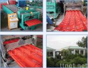 The colored Steel Tiles Moldering Machine