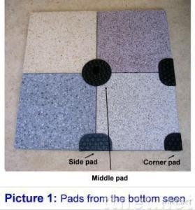 Paving support pads - Plattenlager