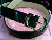 pu belt with alloy buckle