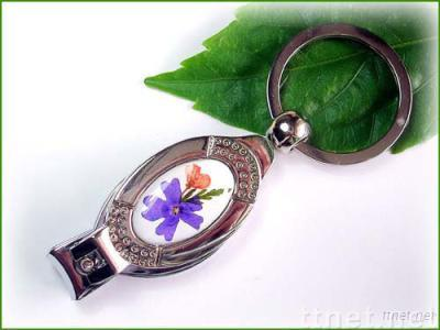 Nail Clippers With Natural Flower