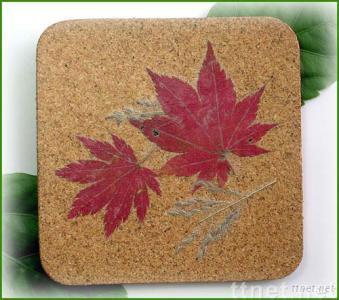 Coaster With Natural Flowers