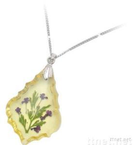 Necklace/Pendant with Natural flower