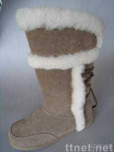 ladies' casual shoes-genuine sheepskin(double face) boots