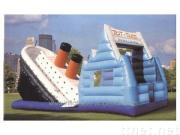 ysli107 Titanic clashes iceberg inflatable slides