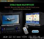 selling  2 DIN 7-inch Car DVD player with TV, Bluetooth, RDS, Radio, USB/SD, Touch screen