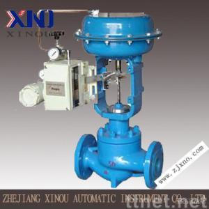 Electric balanced cage guide control valve