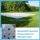 Polyester spunbond nonwoven for agriculture mulch