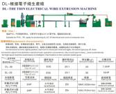 DL-THE THIN ELECTRICAL WIRE EXTRUSION MACHINE