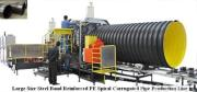 Steel Band Reinforced Polyethylene (PE) Spiral Corrugated Pipe Extrusion Line