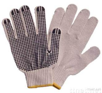 PVC dotted string knit gloves