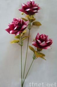 Two Toned Wild Roses Stem x3