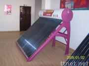 Compact household solar water heater