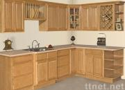 3/4 Overlay Oak Kitchen Cabinet