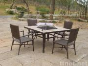 Outdoor table, bamboo furniture, barbecue equipment