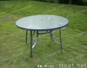 Glass Table, aluminium Table, Round Table