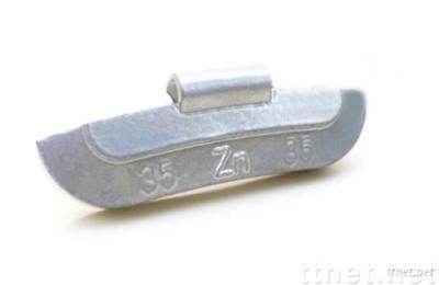 Zn Clip-on wheel balancing weight