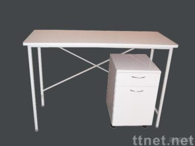 office table with a cabinet