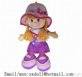 plush girl doll, stuff girl doll