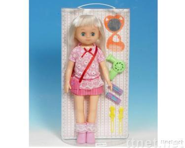 plastic doll toy with accessories, girl doll toys