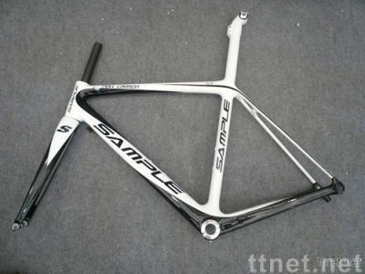 full carbon fiber bicycle road frame and fork