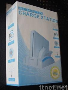 Multi-Function charge station for Wii(BLUE LIGHT)