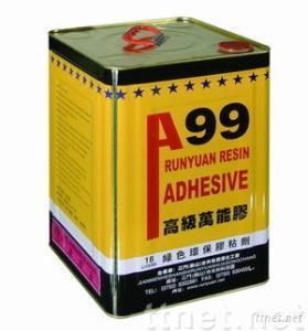 Environmentally protective spraying adhesive