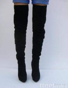 YSL over the knee boot with black suede