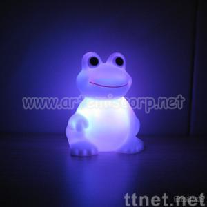 LED Color-changing Frog Night Light-Vinyl PVC material
