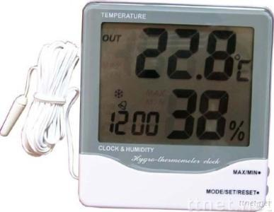 large display in/out hygro-thermometer clock