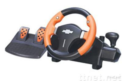 USB Steering Wheel for PS2 Video Game accessories, with Clamps for Fixed