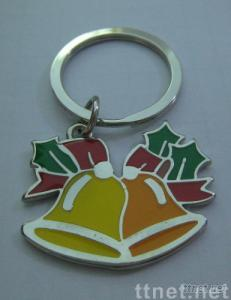 Metal key tags, Bell key chains