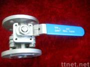 ball valve with flanged ends