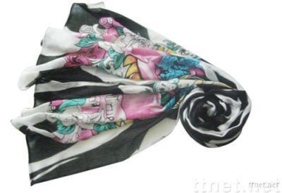 CHARMING PRINTED SCARF FOR LADY
