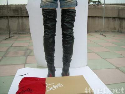 YSL over knee boots in lambskin