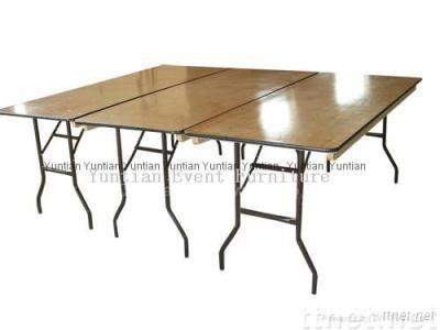 plywood banquet folding tables