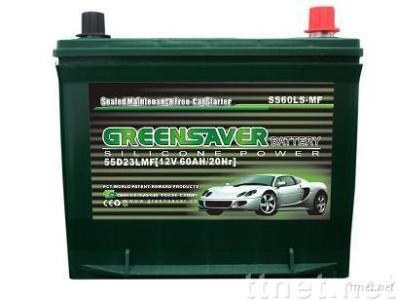 greensaver car battery 12v60ah