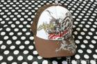 C006: Bill Abong TRUCKER Embroidered Mesh Cap Brown and White