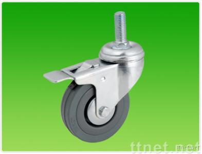 Gray rubber caster