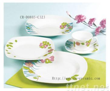 20pcs square dinner set