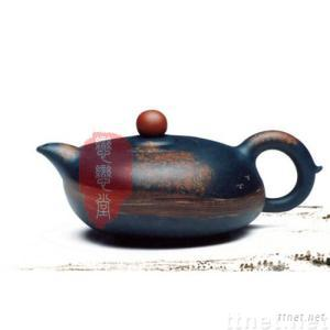 Dark-red Enameled Pottery