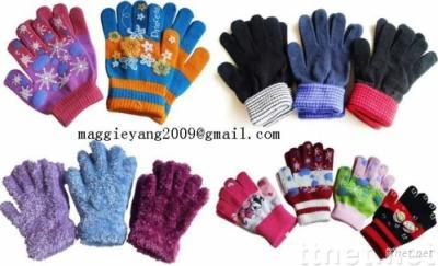 Magic/Acrylic/Chenille/Feather Gloves