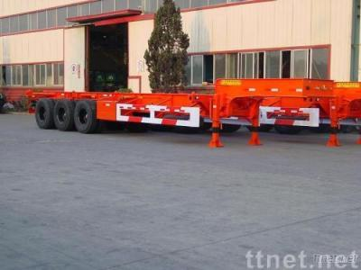 Gooseneck Skeletal Container Semi-Trailer